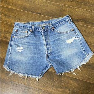 VTG LEVI's 32 Cutoff 501xx High Waist Jean Shorts